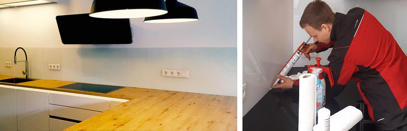 k chenr ckwand aus glas glas seibel. Black Bedroom Furniture Sets. Home Design Ideas